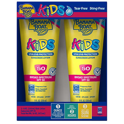 Banana Boat Kids SPF 50 Lotion, 2 pk./8 oz.