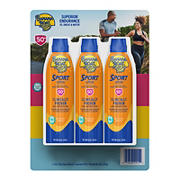 Banana Boat Sport SPF 50 C-Spray, 3 pk./6 oz.