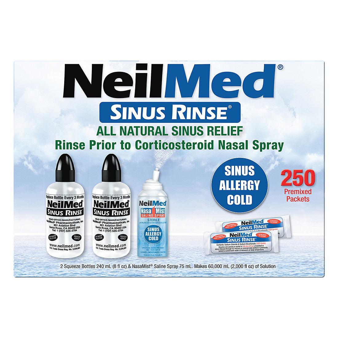 NeilMed Sinus Rinse Squeeze Bottles, 2 pk /8 fl  oz
