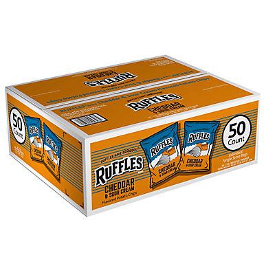 Ruffles Cheddar & Sour Cream Chips, 50 ct./1 oz.