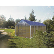 Riverstone Monticello 8' x 24' Premium Greenhouse Package with Bonus Work Station Kit - Aluminum