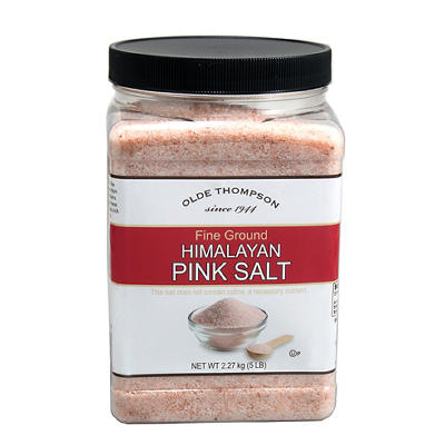 Olde Thompson Fine Ground Himalayan Pink Salt, 5 lbs.