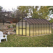 Riverstone Monticello 8' x 16' Premium Greenhouse Package with Bonus Work Station Kit - Black