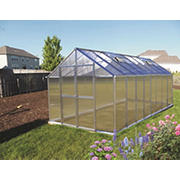 Riverstone Monticello 8' x 16' Premium Greenhouse Package with Bonus Work Station Kit - Aluminum