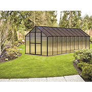 Riverstone Monticello 8' x 20' Premium Greenhouse Package with Bonus Work Station Kit - Black