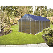 Riverstone Monticello 8' x 20' Premium Greenhouse Package with Bonus Work Station Kit - Aluminum