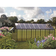 Riverstone Monticello 8' x 16' Mojave Greenhouse with Bonus Work Station Kit - Black