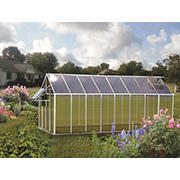 Riverstone Monticello 8' x 16' Mojave Greenhouse with Bonus Work Station Kit - Aluminum