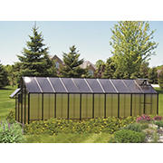 Riverstone Monticello 8' x 20' Mojave Greenhouse with Bonus Work Station Kit - Black