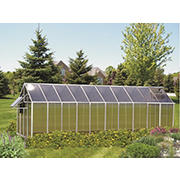 Riverstone Monticello 8' x 20' Mojave Greenhouse with Bonus Work Station Kit - Aluminum