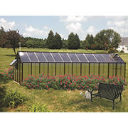 Riverstone Monticello 8' x 24' Mojave Greenhouse with Bonus Work Station Kit - Black