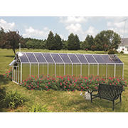 Riverstone Monticello 8' x 24' Mojave Greenhouse with Bonus Work Station Kit - Aluminum