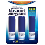 Nasacort Allergy 24-Hour Spray, 3 pk./0.57 oz.