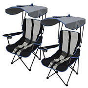 Kelsyus Premium Canopy Chairs, 2 pk. - Blue