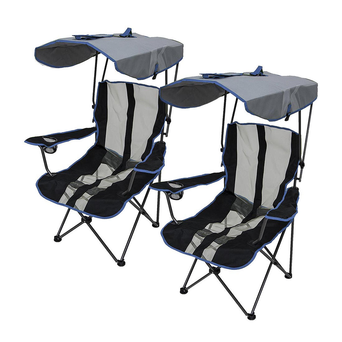 Magnificent Kelsyus Premium Canopy Chairs 2 Pk Blue Customarchery Wood Chair Design Ideas Customarcherynet
