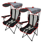 Kelsyus Premium Canopy Chairs, 2 pk. - Red