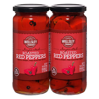 Wellsley Farms Roasted Red Peppers, 2 pk./15.5 oz.