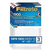 Filtrete Filter 14x20x1 Filtration Level 1900, 3 pk