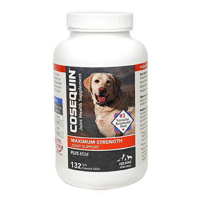 Cosequin DS Plus MSM Joint Health Supplement for Dogs, 132 ct.