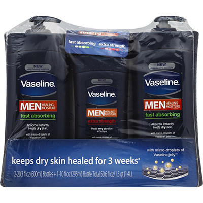 Vaseline Men Healing Moisture Body and Face Lotion, 2 pk./20.3 oz.with