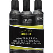 TRESemme Extra-Hold Mousse, 3 pk./10.5 oz.