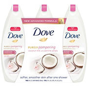 Dove Purely Pampering Nourishing Body Wash Coconut Milk With Jasmine Petals 3 Pk 24 Oz Bjs Wholesale Club