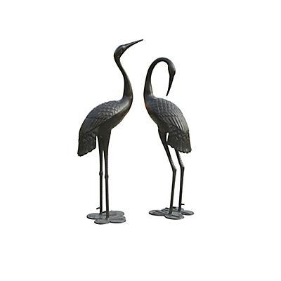 Sunjoy Male and Female Crane Garden Statue, Set of 2