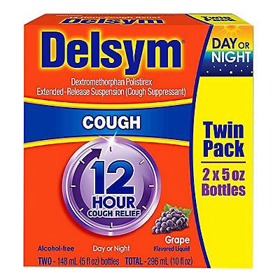 Delsym 12-Hour Cough Relief, 2 pk./5 oz.