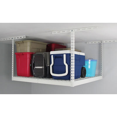 "SafeRacks 4' x 4' Overhead Storage Rack, 12"" - 21"" Ceiling Drop"