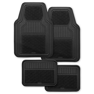 Kraco Rubber and Carpet Universal 4-Pc. Car Mat Set - Black