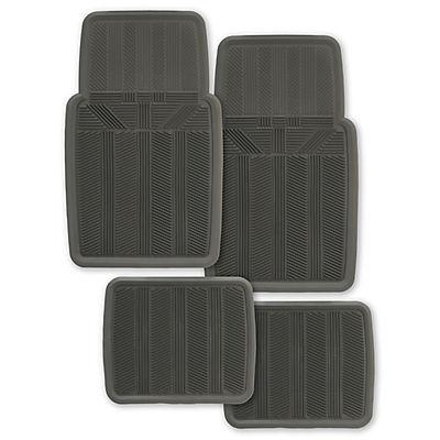 Kraco Rubber Universal 4-Pc. Car Mat Set - Gray