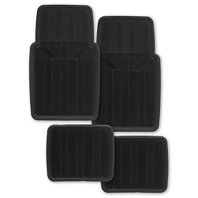 Kraco Rubber Universal 4-Pc. Car Mat Set - Black