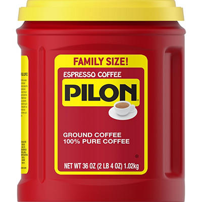 Pilon Espresso Ground Coffee, 36 oz.