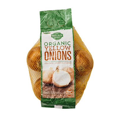 Wellsley Farms Organic Yellow Onions, 3 lbs.