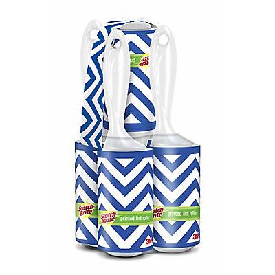 Scotch-Brite 70-Sheet Printed Lint Roller, 5 pk. - Blue Stripes