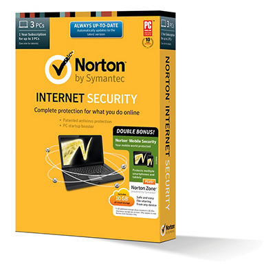 Norton Internet Security + Norton Mobile Security + Norton Zone 10GB