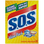 S.O.S. Steel Wool Soap Pads, 50 per Box