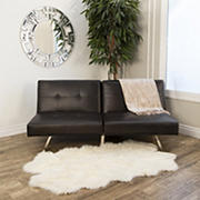 Abbyson Living Milano Convertible Sofa - Dark Brown