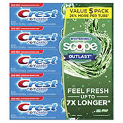Crest Complete Whitening + Scope Mint Outlast Toothpaste, 5 pk./7.3 oz.