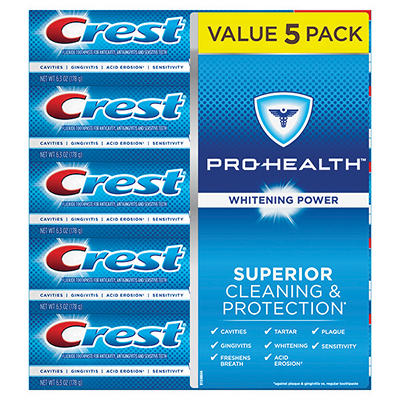Crest Pro-Health Whitening Power Toothpaste, 5 pk./6.3 oz.