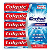 Colgate Max Fresh Toothpaste with Mini Breath Strips, Cool Mint, 5 pk./7.6 oz.