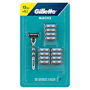Gillette Mach3 Men's Razor with 13 Blade Refills