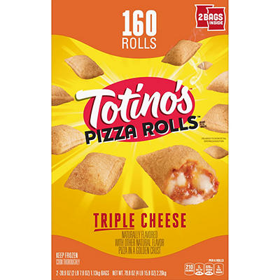 Totino's Triple Cheese Pizza Rolls, 160 ct./7.9 oz.