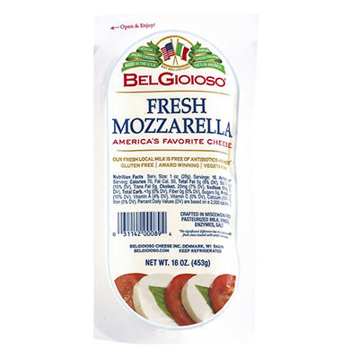 Belgioioso Fresh Mozzarella, 16 oz.