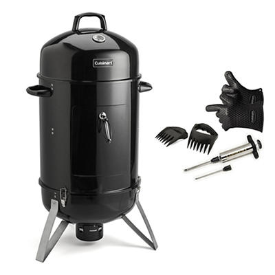 "Cuisinart Vertical 16"" Smoker Bundle with 6-Pc. Pit Kit"
