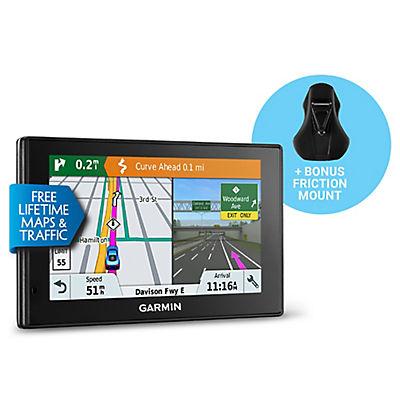 "Garmin DriveSmart 51 LMT-S 5"" GPS Navigator with Bonus Friction Mount,"