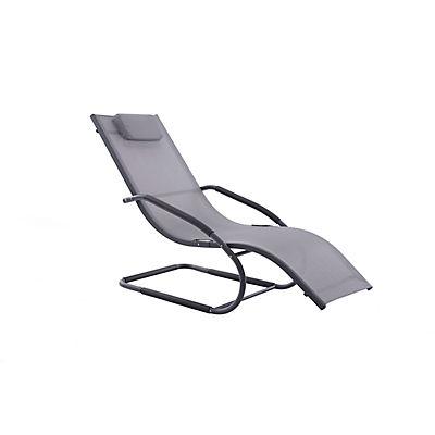 Vivere Wave Lounger - Gray