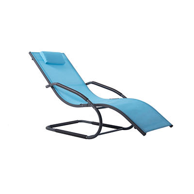 Vivere Wave Lounger - Ocean Blue
