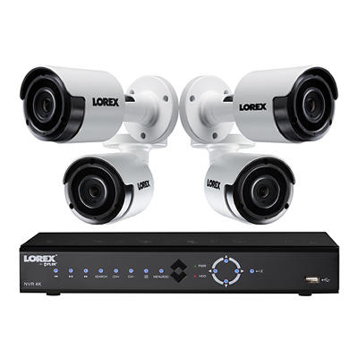 Lorex 8-Channel 4-Camera 5MP Security System with 2TB 4K HDD NVR