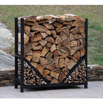 Shelter-It 4' Straight Firewood Crib - Black